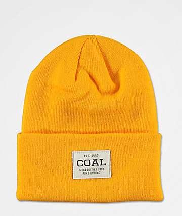 Coal Uniform Golden Rod Beanie