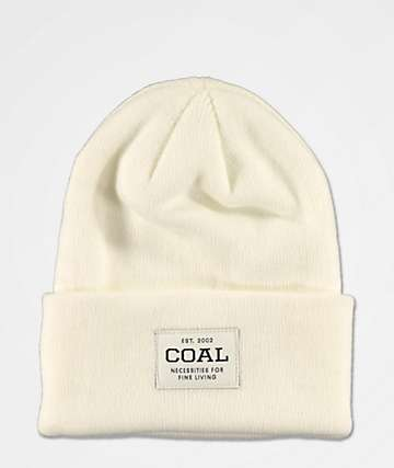 Coal Uniform White Beanie