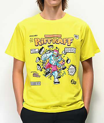 Colors Collectiv x Riff Raff Incredible Yellow T-Shirt