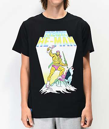 Colours Collectiv x Riff Raff Neon He-Man Black T-Shirt