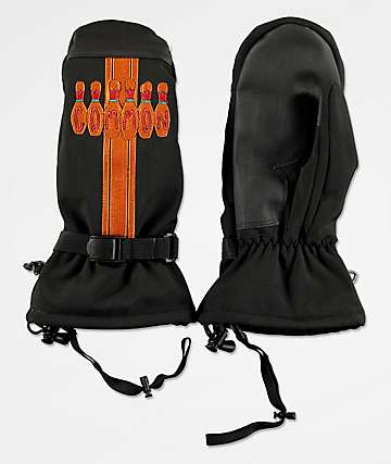 Common Kingpin Black Snowboard Mittens