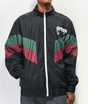 Common Kutit Black, Maroon & Green Windbreaker Jacket
