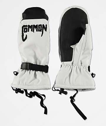 Common Kutit White Snowboard Mittens