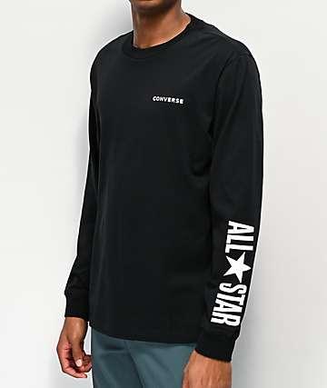 Converse All Star Black Long Sleeve T-Shirt