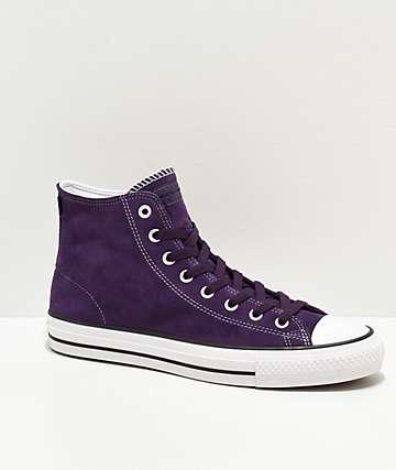Converse CTAS HI Grand Purple & Sulfur Skate Shoes
