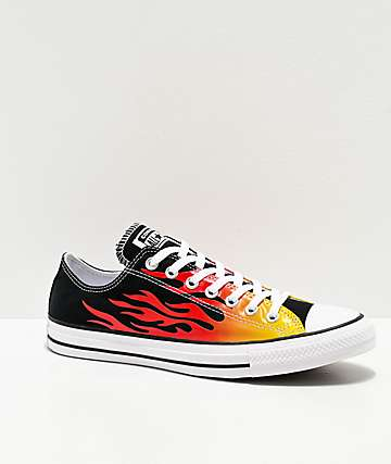 Converse Chuck Taylor All Star Ox Black & Flame Shoes