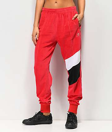 Converse Colorblock Red Track Pants