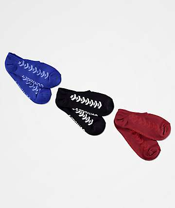 Converse One Star 3 Pack No Show Socks
