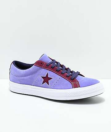 Converse One Star Deep Periwinkle & White Skate Shoes