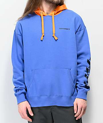 Converse Repeated Chevron Star Blue & Orange Hoodie
