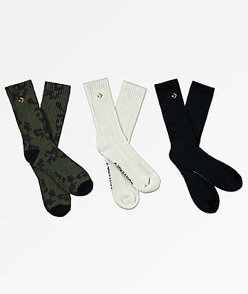 Converse Star Three Pack Crew Socks