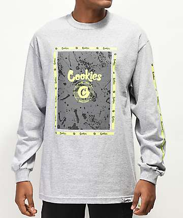Cookies Citadel Grey Long Sleeve T-Shirt