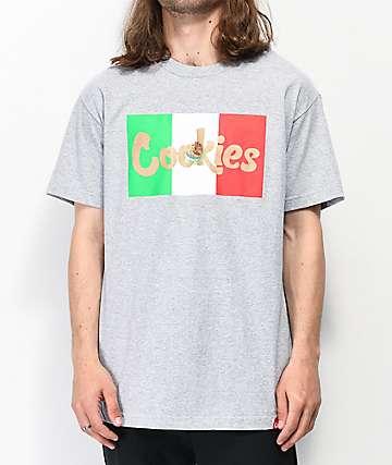 Cookies Con Safos Flag Grey T-Shirt