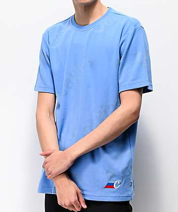 Cookies M3 AOP Blue Short Sleeve Knit Shirt