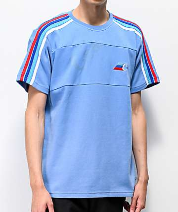 Cookies M3 Blue Short Sleeve Knit Shirt