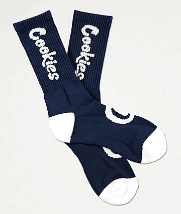 Cookies Thin Mint Navy & White Crew Socks