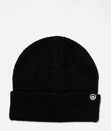 Cords Waffle Knit Black Beanie