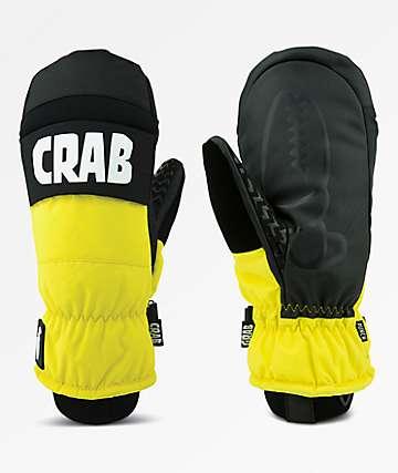 Crab Grab Punch Black & Yellow Snowboard Mittens