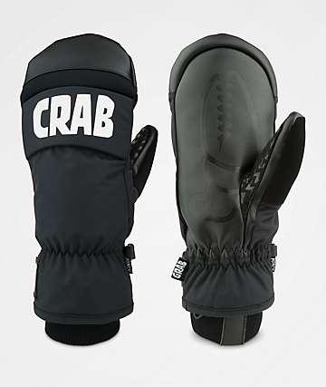 Crab Grab Punch Mitt Black Snowboard Mittens