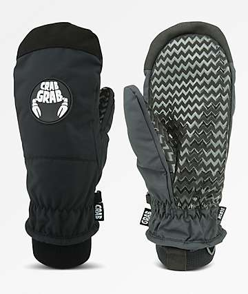 Crab Grab Slush Black Snowboard Mittens