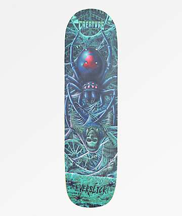 "Creature Haunted Webs Everslick 8.59"" Skateboard Deck"