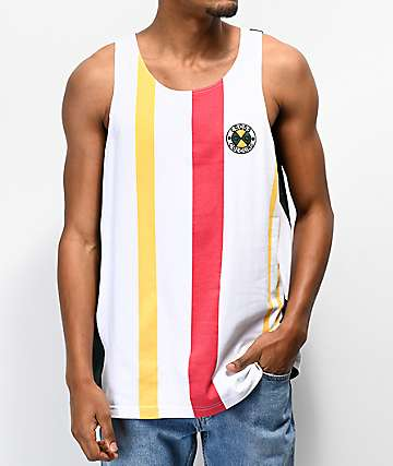 Cross Colours Light Multicolor Stripe Tank Top