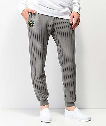 Cross Colours Pinstripe Grey Jogger Sweatpants