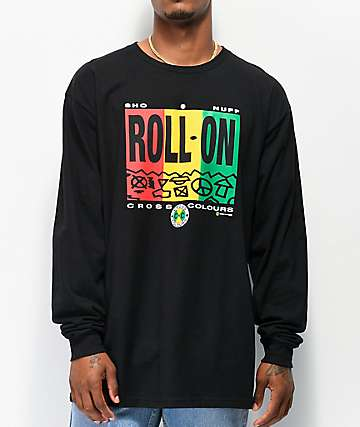 Cross Colours Roll On Black Long Sleeve T-Shirt