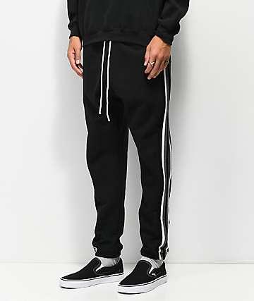 Cross Colours Stripe Black Jogger Sweatpants