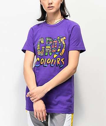 Cross Colours Tribal Purple T-Shirt