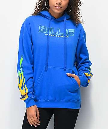 Cross Colours x Billie Eilish Flame sudadera con capucha azul
