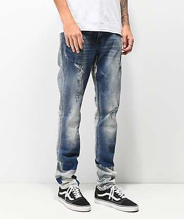Crysp Andromeda jeans ajustados de mezclilla azul