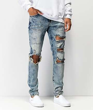 Crysp Denim Atlantic Marble Washed Denim Jeans