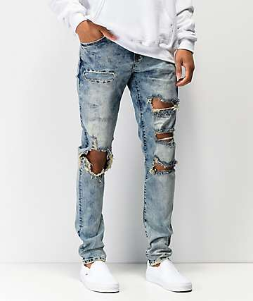 Crysp Denim Atlantic jeans de mezclilla de lavado mármol
