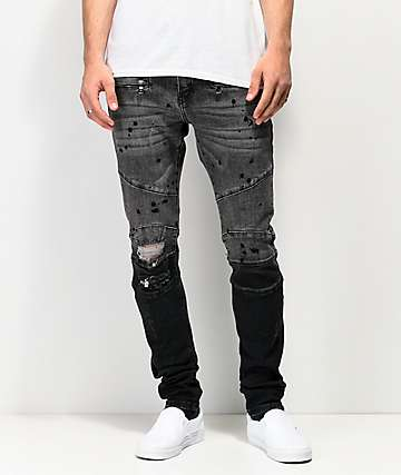 Crysp Denim Montana Black Dip Dye Denim Jeans