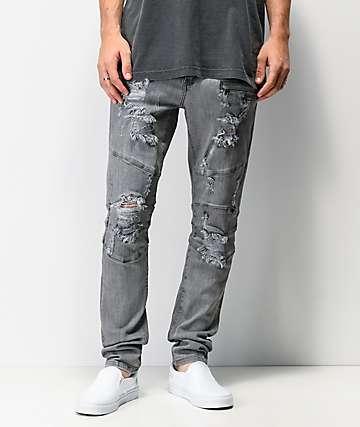 Crysp Denim Montana Grey Skinny Jeans