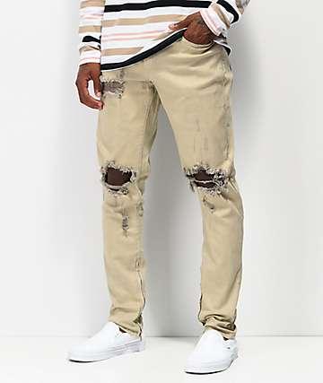 Crysp Denim Pacific jeans de mezclilla caqui