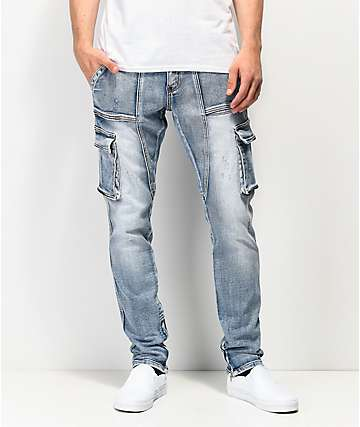 Crysp Denim Pacific jeans estilo cargo de mezclilla
