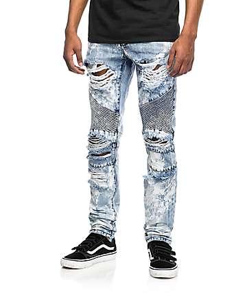 Crysp Denim Skywalker Biker jeans rotos