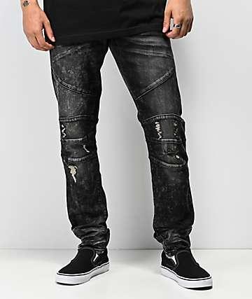 Crysp Montana jeans con lavado negro