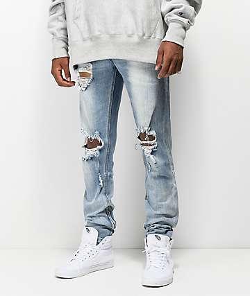 Crysp Pacific jeans ajustados con lavado azul