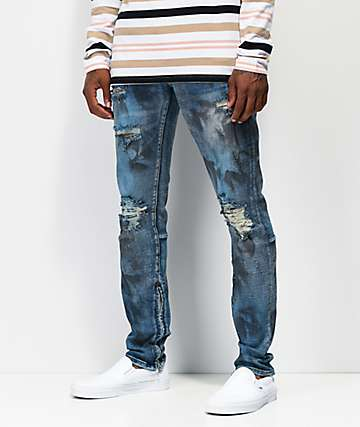 Crysp Pacific jeans de mezclilla azul con lavado de aceite
