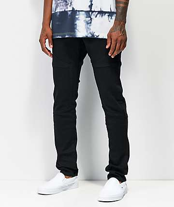 Crysp Rockwell Black Moto Jeans
