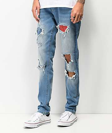 Crysp Serpens Polka Blue Tint Jeans