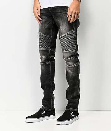 Crysp Skywalker Moto jeans negros