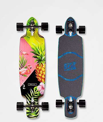"DB Dagger Pina Colada 36"" Drop Through Longboard Complete"