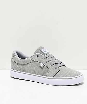DC Anvil TX SE Grey & Light Grey Skate Shoes