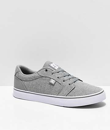 DC Anvil TX SE Light Grey Skate Shoes