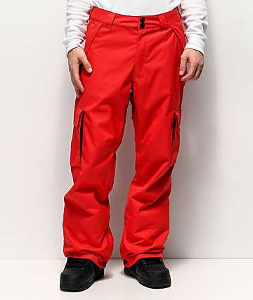 DC Banshee Racing Red 10K Snowboard Pants