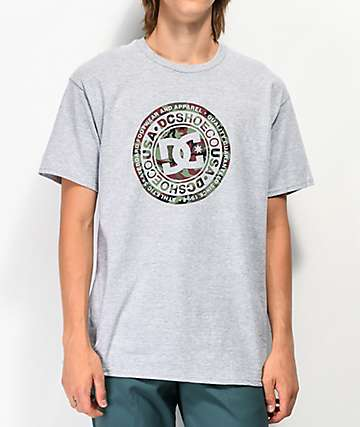 DC Circle Star 2 Grey & Camo T-Shirt